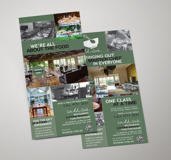 Printed Flyers for Wild Oak